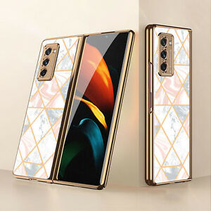 Folding Phone Case Creative Drop-Proof Glass Phone Shell for Samsung Z Fold3