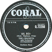 78 RPM - The Crickets - Oh, Boy / Not fade away - 1957