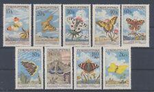 Tschechoslowakei 1301/09 postfrisch / Schmetterlinge (6357) ....................