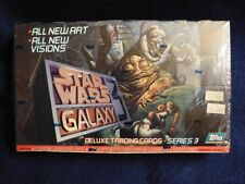 Vintage Star Wars Galaxy 3 Deluxe Trading Cards Topps Sealed SW ESB ROTJ
