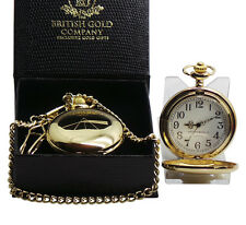 Dark Side of the Moon 24k Gold Plated Pocket Watch Luxury Gift PINK FLOYD Set