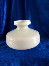 More details for vintage opaque milk glass oil lamp shade - 14.8 cm - see ad