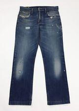 Meltin pot mark jeans uomo usato W32 tg 46 gamba dritta denim destroyed T4696