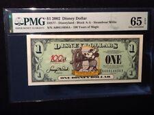 "2002  $1   STEAMBOAT WILLIE  DISNEY DOLLAR ""A-A""  DIS77   PMG  65 EPQ"