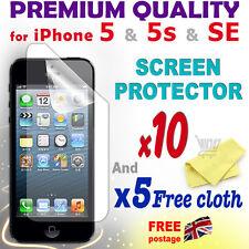 10 Nueva Película Protectora De Protección de pantalla de alta calidad de aluminio para iPhone 5 5S SE
