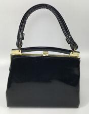 New listing Vintage 50s Purse Dagne Dover Black Patent Leather Handbag