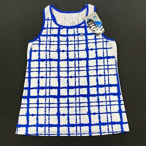 DUC Sports Womens Athletic Tank Top Blue/White Size Large
