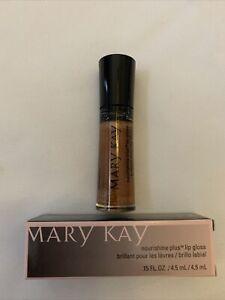 Mary Kay Nourishine Plus Lip Gloss BEACH BRONZE .15oz NEW 047952 Made In USA