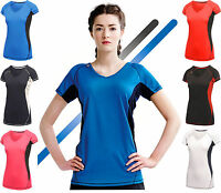 REGATTA Ladies Performance T-shirt Top Breathable Moisture Wicking Quick Drying