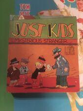 JUST KIDS & MYSTERIOUS STRANGER HARDCOVER Saalfield Big Little Book 1094