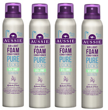 4x Aussie PURE LOCKS Air Light Foam Volume Conditioner 180ml