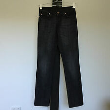 'NOBODY' BNWT SIZE '8' BLACK DENIM STRAIGHT LEG COTTON JEANS