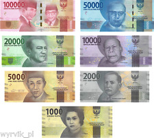 INDONESIA 2016 banknotes 7 set 1000 - 100000 rupiah UNC perfect
