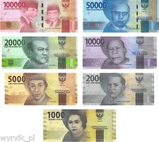 INDONESIA 2016 banknotes 7 set 1000 - 100000 rupiah UNC perfect
