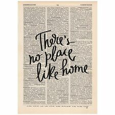 There's No Place Like Home Dictionary Print OOAK, Art, Wizard Of Oz
