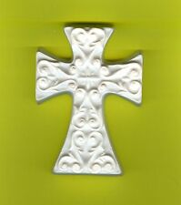 Iron designed large cross (Plaster-of-Paris) painting project. Set of 1!