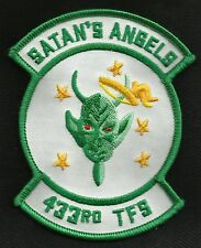 USAF 433rd TFS Tactical Fighter Squadron Military Patch SATAN'S ANGELS
