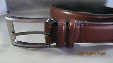Men's Belt, Size 44, Brown, Double Loop