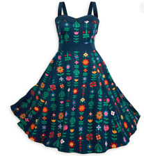 Disney park it's a small world dress size 3X navy floral