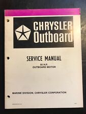 Chrysler Outboard engine motor service manual 55hp OB3872