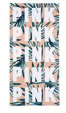 Victorias Secret PINK Beach Towel Palm Print 2017 NEW Oversized Logo