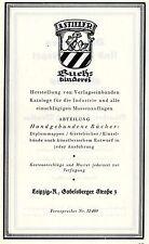 A.Stieler Leipzig BUCHBINDEREI Historische Reklame von 1925