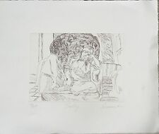 """Harry Carmean etching of woman on couch 2002 """"Sally"""""""