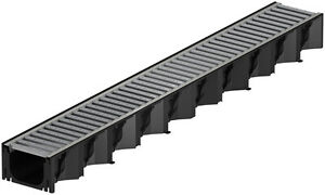 ACO HexaLine 2.0 Entwässerungsrinne Stahl verzinkt Design-Optik