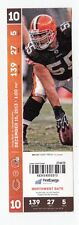 2013 CLEVELAND BROWNS VS CHICAGO BEARS TICKET STUB 12/15/13
