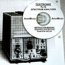 Tektronix 7L13 Spectrum Analyzer Instruction (operating & service) Manual