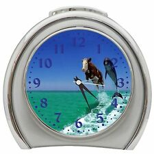 Cow And Dolphin Alarm Clock Night Light Travel Table Desk