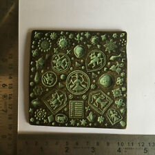 Early 18th C An antique old bell metal jewellery stamp die seal multiple pattern