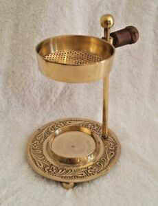 Brass Resin Frankincense Myrrh Incense Burner 12cm - Tea Light Candle Burner AU