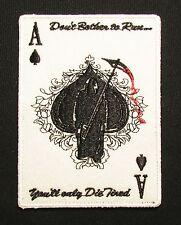 ACE OF SPADES GRIM REAPER DEATH CARD SWAT HOOK & LOOP MORALE BADGE PATCH