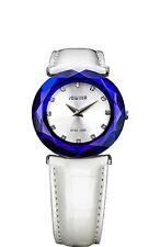 Jowissa Women's J1.010.M Safira 99 Blue Bezel White Leather Wristwatch