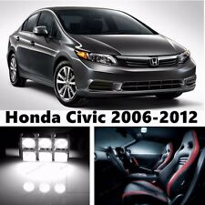 9pcs LED Xenon White Light Interior Package Kit for Honda Civic 2006-2012