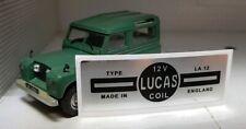 Land Rover Series 1 2 88 109 1957-59 Lucas LA12 Coil Black Silver Sticker Decal