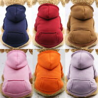 Pet Hoodie Dog Clothes Puppy Sweater Cat Hat Coat Warm Apparel Costume Winter