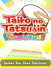 Golden don chan character Taiko no Tatsujin drum 'n' Fun! Nintendo switch DLC código