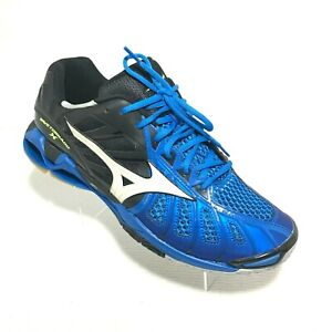 Mizuno Wave Tornado X Volleyball Shoes Size 13 Black / Blue