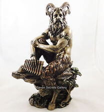 "PAN Pagan God Statue Cloven Hoofed Satyr Greek Mythology Figurine 11.1/2"" NEW IN"