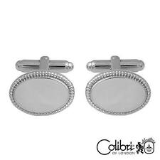 Colibri of London Stainless Steel Ovall Shaped Cuff links