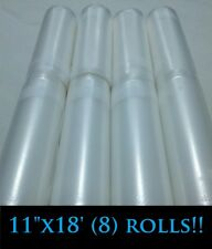 """8[Eight]11""""x18'rolls for use in all universal FOODSAVER &other Vacuum Sealer bag"""