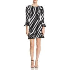 MICHAEL Michael Kors Womens B/W Polka Above Knee Swing Flounce Dress S BHFO 7655