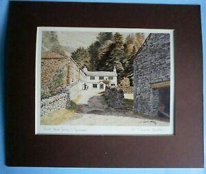 T. Leslie Hawkes, signed print of Knott Howe Farm, Grasmere