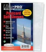 """Ultra Pro 3 11/16"""" x 5 3/4"""" Soft Sleeves for Vintage Postcards 100 Count"""