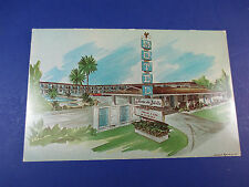 Farm de Ville Motel Buena Park,California Vintage Colorful Postcard Unused Pc14