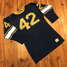 Vintage 60s 70s Champion Football Jersey 40 M Usa Long Sleeve Heavy Blue Gold