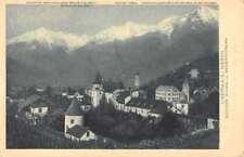 Merano Italy Birdseye View Of City Antique Postcard K94867