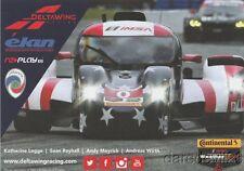 2016 DeltaWing DWC-13 Elan P Rolex 24 IMSA WTSC postcard Katherine Legge